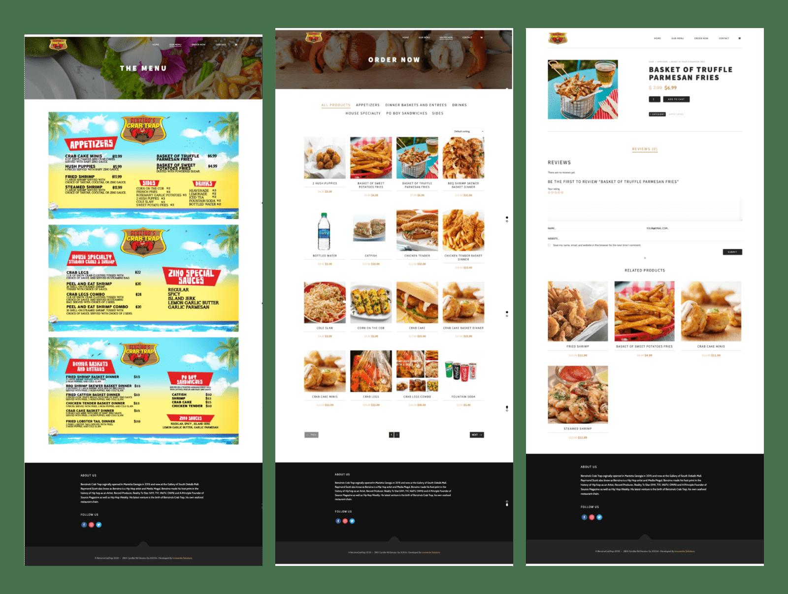 restaurant wordpress site with square pos