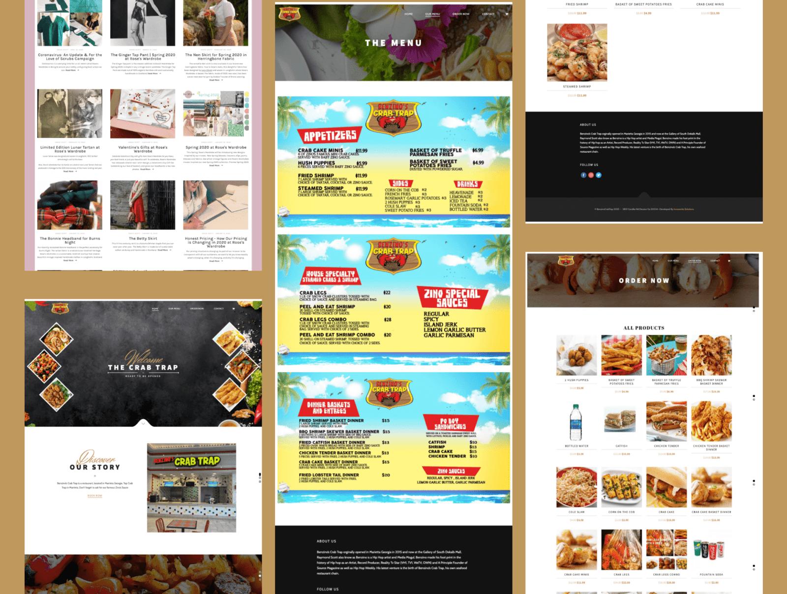food ordering website development