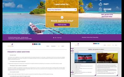 visa application site created in wordpress